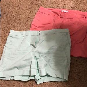 EUC LOFT chino shorts size 14